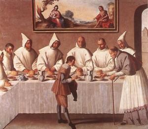 Francisco-Zurbaran-St.-Hugo-of-Grenoble-in-the-Carthusian-Refectory