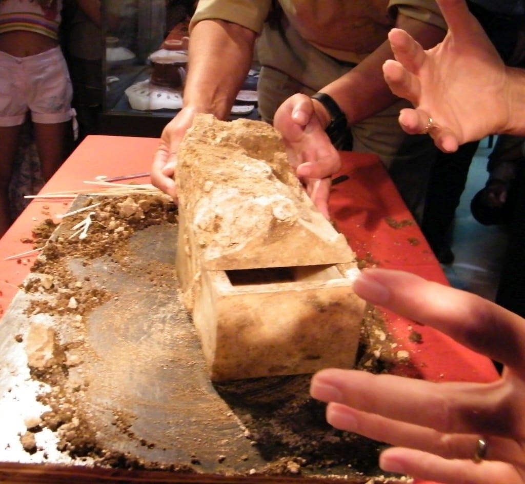 La Casstta con le reliquie ritrovata in Bulgaria