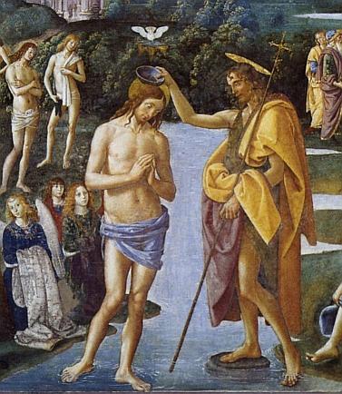 Perugino - Battesimo di Gesù