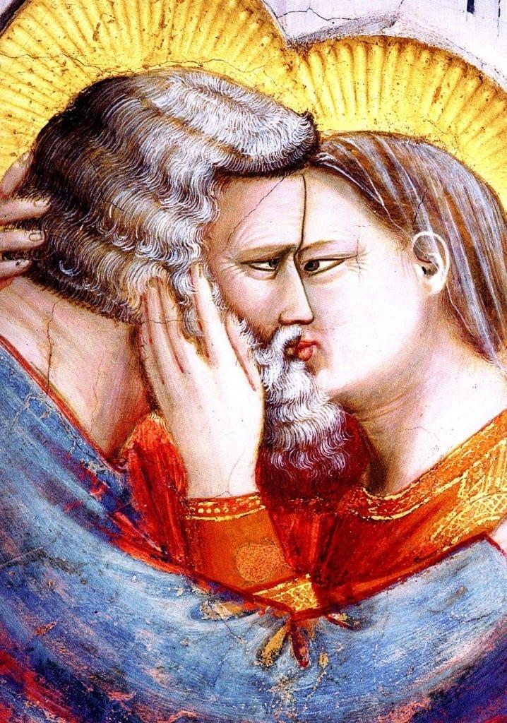 Incontro tra Gioacchino e ed Anna particolare di Giotto