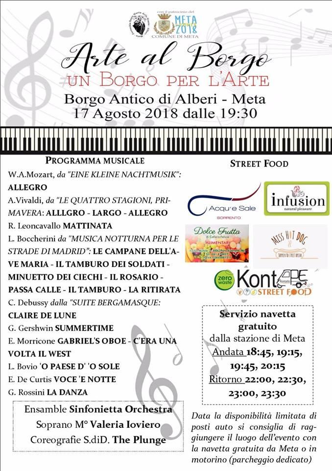 """Meta – Alberi, """"<b>Arte</b> al Borgo – Un Borgo per l&#39;<b>Arte</b>"""": info e servizio navetta gratuito"""